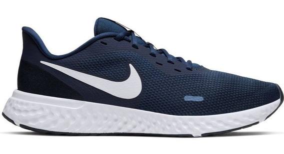 Tênis Nike Revolution Marinho Branco Esporte