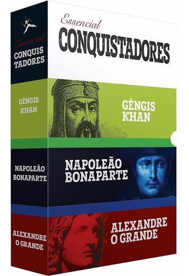 Box 3 Livros Grandes Conquistadores Da Historia Administraçã