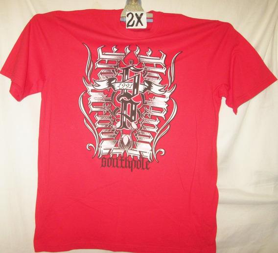 Camiseta Larga Casual Roja Talla 2 X Southpole