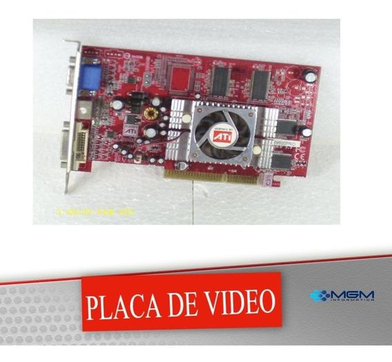 Placa De Video Agp Ati Radeon R9600pro 256 Mb 128 Bits