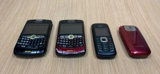 Kit: 4 Celulares: 2 Blackberry Nextel, 1 Nokia E 1 LG