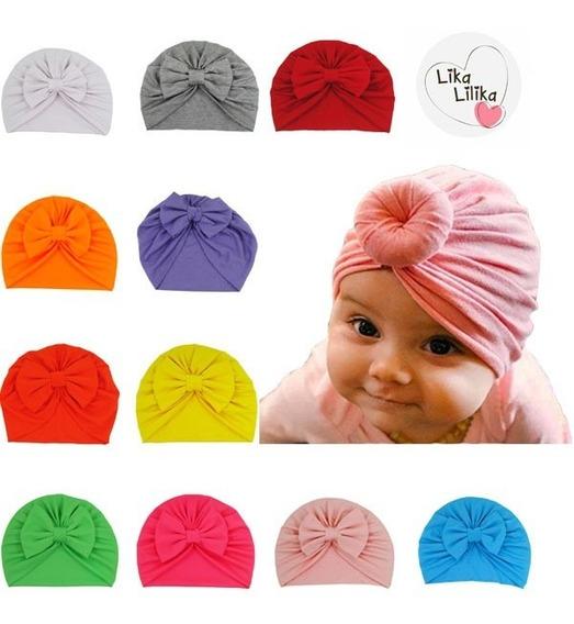 Kit Com 2 Turbantes Zoe Infantil Bebê Touca Gorro Promoção