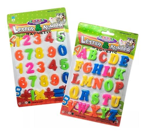 Imagen 1 de 5 de 52 Letras + 20 Números Imantados + Signos Plástico Didáctico