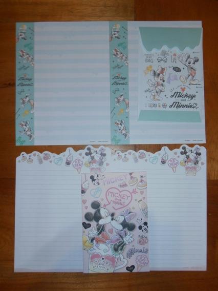 Lindo Lote Papel De Carta Mickey E Turma - 34 Itens