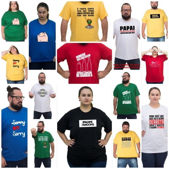 Camiseta Plus Size Feminina/masculina Super Grande/gg/exg
