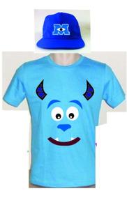 Camiseta Infantil E Boné Monster Sa Sullivan Personalizado