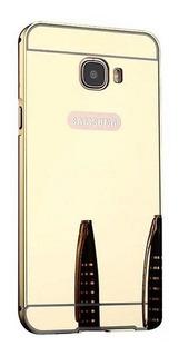 Capa Case Bumper Espelhada Galaxy A7 A720 Dourada