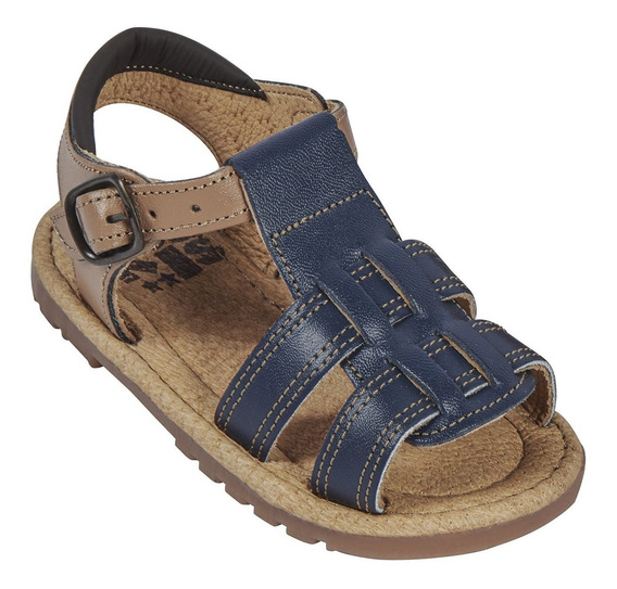 Sandalia Piel Combinada Cklass