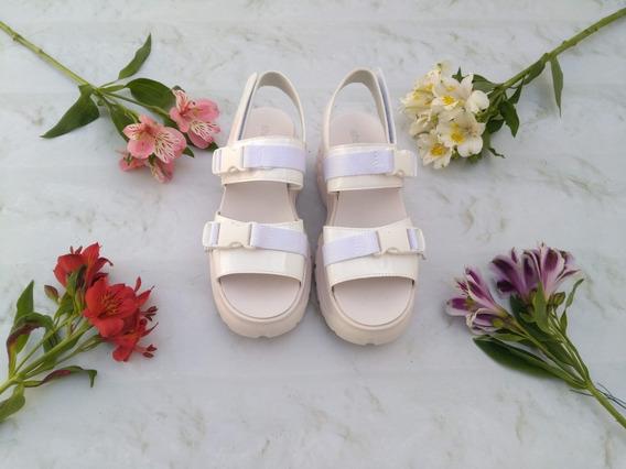 Sandalias Para Dama Primavera Verano Broches Blancas