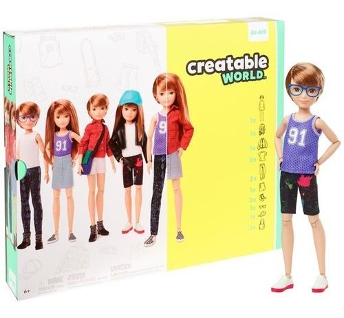 Imagem 1 de 8 de Creatable World Barbie Mattel Ruivo Dc-619 Fashion