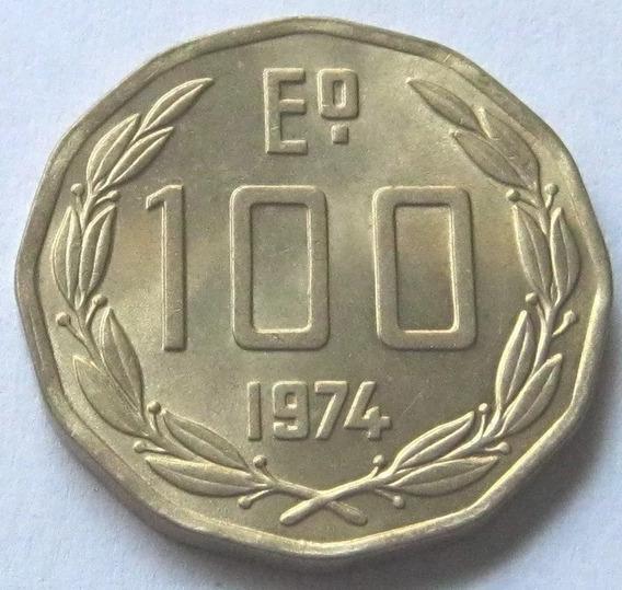 Chile Moneda De 100 Pesos-escudos Año 1974