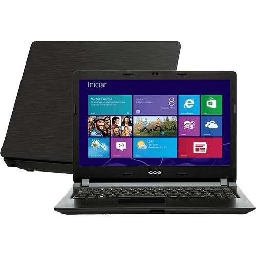 Notebook Cce Ultra Thin Dual Core 4gb 500gb Windows 14