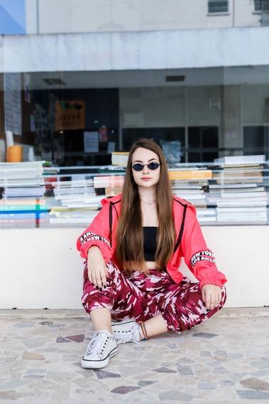 Corta Vento Feminino Várias Cores Com Listras Blogueira
