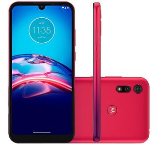 Celular Motorola Moto E6s Vermelho Magenta 64gb Cam 13mp 2mp