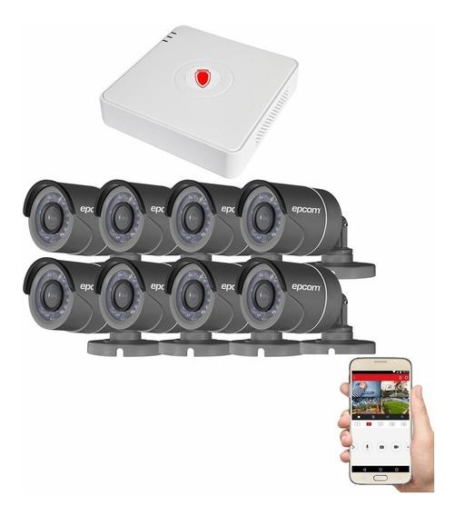 Kit Cctv Circuito Cerrado 8 Camaras Vigilancia Hd Epcom Bb