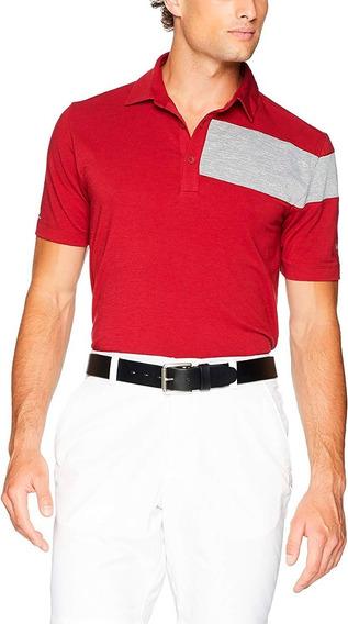 Playera Columbia Tipo Polo Deportiva Hombre Golf Rojo Envio