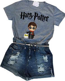 Blusa Feminina T-shirt Harry Potter Always Baby Look Barato