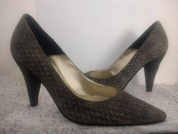 Zapatos Stillettos Sarkany Cuero Super Oferta!!