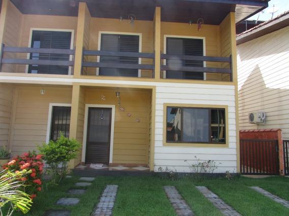 629-belíssima Casa Em Condomínio Fechado, 3 Dormitórios.
