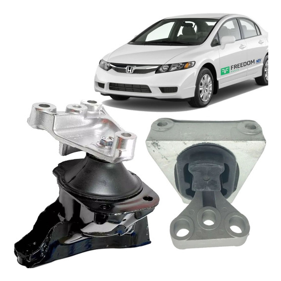 Coxim Motor Lado Esquerdo + Lado Direito Honda New Civic 2006 2007 2008 2009 2010 2011