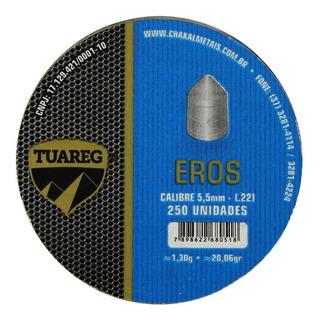 Chumbinho Munição Carabina Pressão Tuareg Eros 5.5mm 250un.
