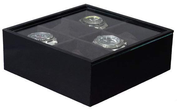 Porta Relógio C/6 Divisões Preto - Pd 4009