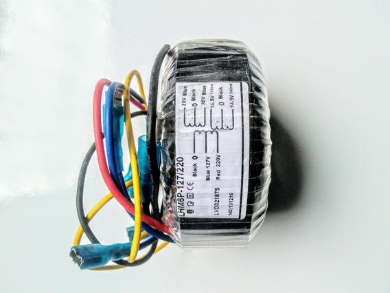 Transformador Toroidal Entrada 127/220 Saída 20+20/14,5+14,5