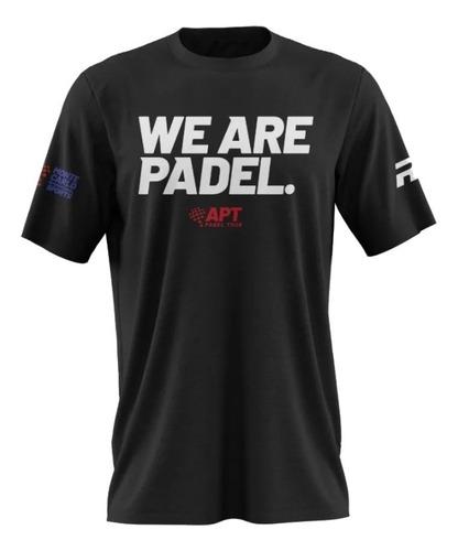 Imagen 1 de 2 de Remera Deportiva Royal Padel Algodon Apt We Are Padel