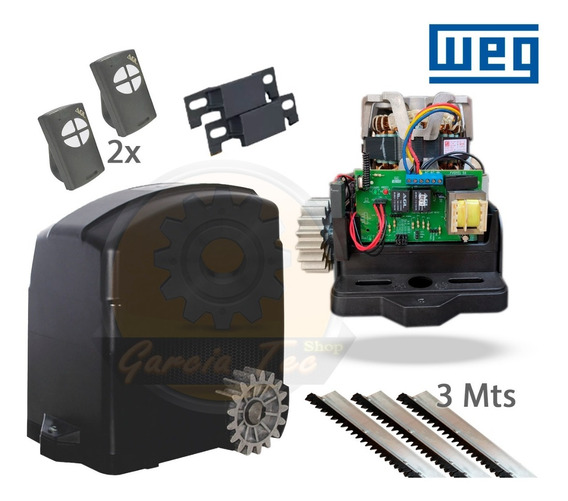 Kit Motor Portão Automático Eletrônico Deslizante 127 220
