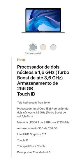 Apple Macbook Air 2019 Retina 256gb Mvfj2 6990 À Vista