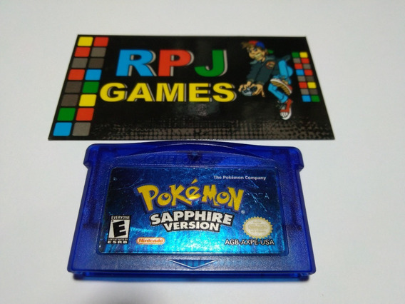 Pokemon Sapphire Original Salvando Gba Game Boy Advance &&
