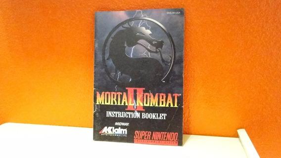 Manual Original- Mortal Kombat 2- Snes