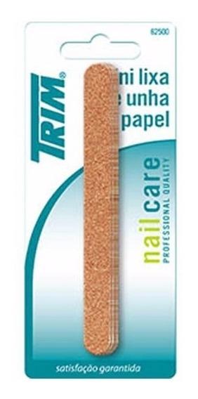 Kit C/ 10 Mini Lixa De Unha Trim 12 -25pg