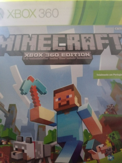 Minecraft Totalmente Em Portugues,xbox 360,mídia Fisica,