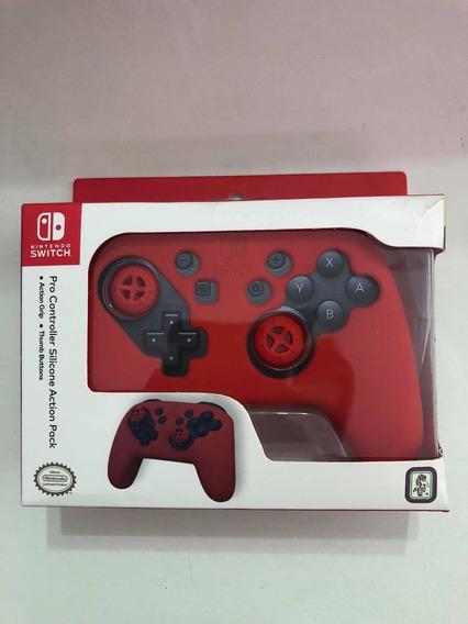 Nintendo Switch Pro Controller Silicone Action - Vermelha