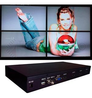 Procesador De Videowall Para 4 Teles Hdmi Vga Av Y Usb