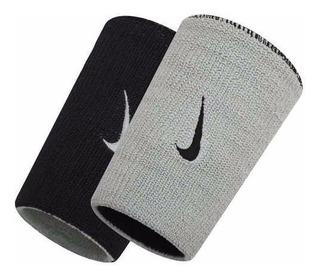 Munhequeira Nike Dri-fit Dupla Face Preta E Cinza