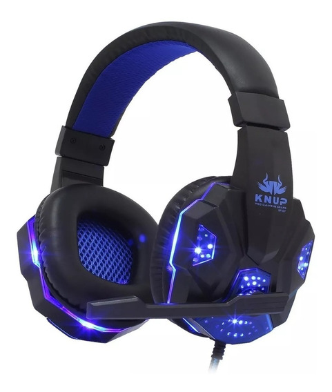 Headset Gamer Pc Fone Ouvido Ps4 Celular Knup P2 Usb Leds