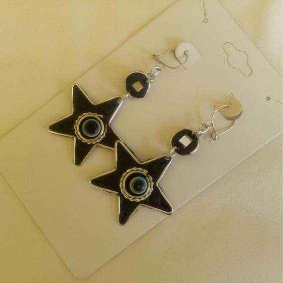 Brinco Estrela Com Olho Grego Ref: 6582