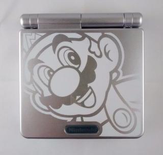 Gameboy Advance Sp-001 Mario Metal Edition + Juego De Regalo