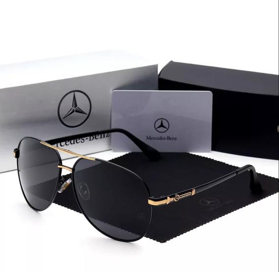 Óculos De Sol Mercedes Benz - 742 Golden - Polarizado Uv400