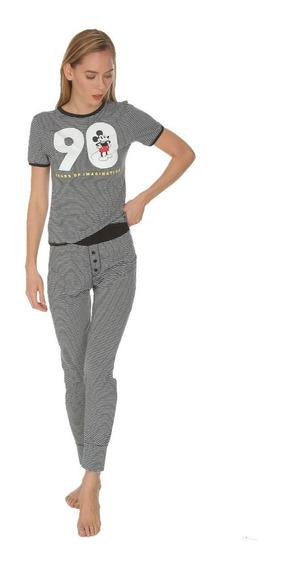 Pijama Mujer Mickey Mouse Disney Original Pantalon 9224