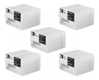 Tarjetas 500 Pvc Blancas Zebra Para Credenciales 104523-111