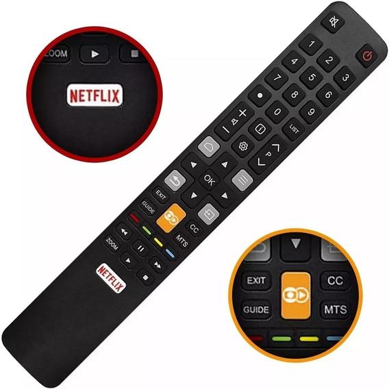 Controle Semp Tcl Toshiba Netflix Led L55s4900fs / Rc802n 4k