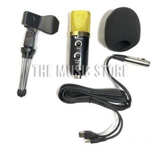 Venetian U66 Kit Microfono Condeser Negro Estudio Streaming