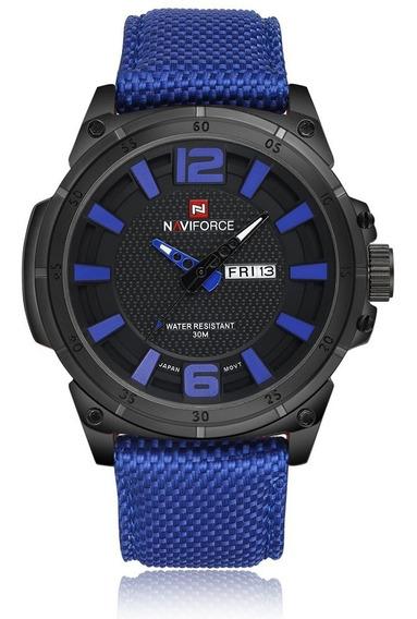 Relógio Naviforce Original Azul Prova D
