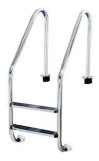 Escalera Acero Inox. 2 Peldaños Marca Vertex