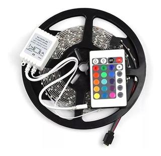 Kit Cinta Led 5050 Rollo 5m Multicolor Control Transformador