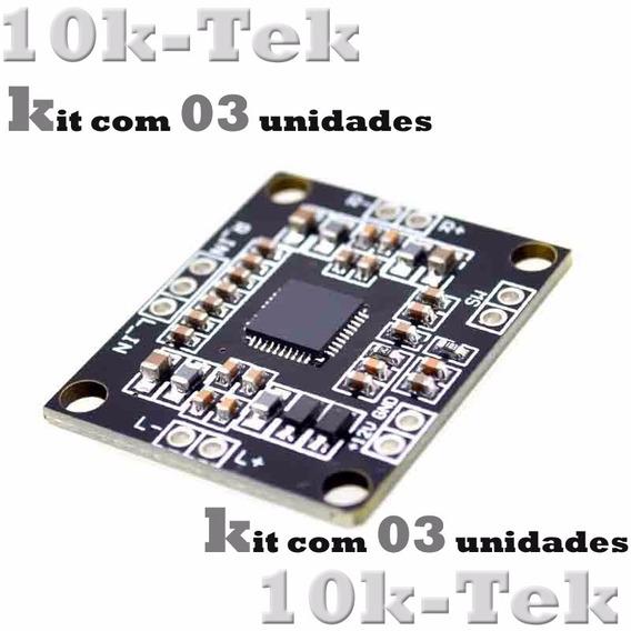 03 X Pam8610 Placa Mini Amplificador Digital De 2 X 15 W