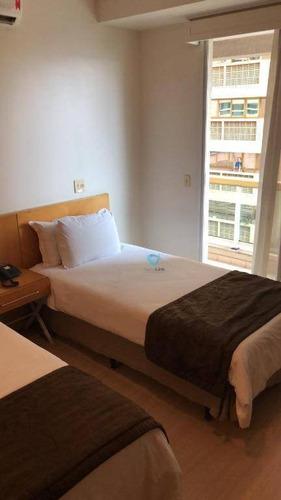 Imagem 1 de 10 de Flat Com 1 Dormitório À Venda, 56 M² Por R$ 380.000,00 - Alphaville - Barueri/sp - Fl0035